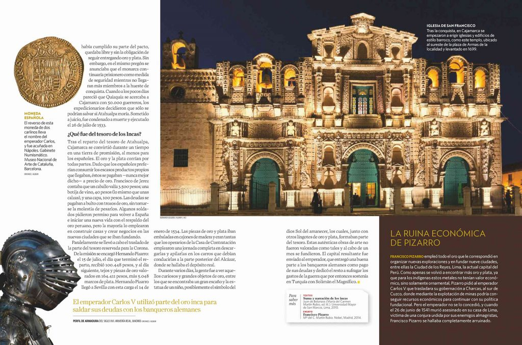 Bob Golden's shot of Church of San Francisco in Cajamarca, Peru, featured in National Geographic - Historia magazine Sept 2019