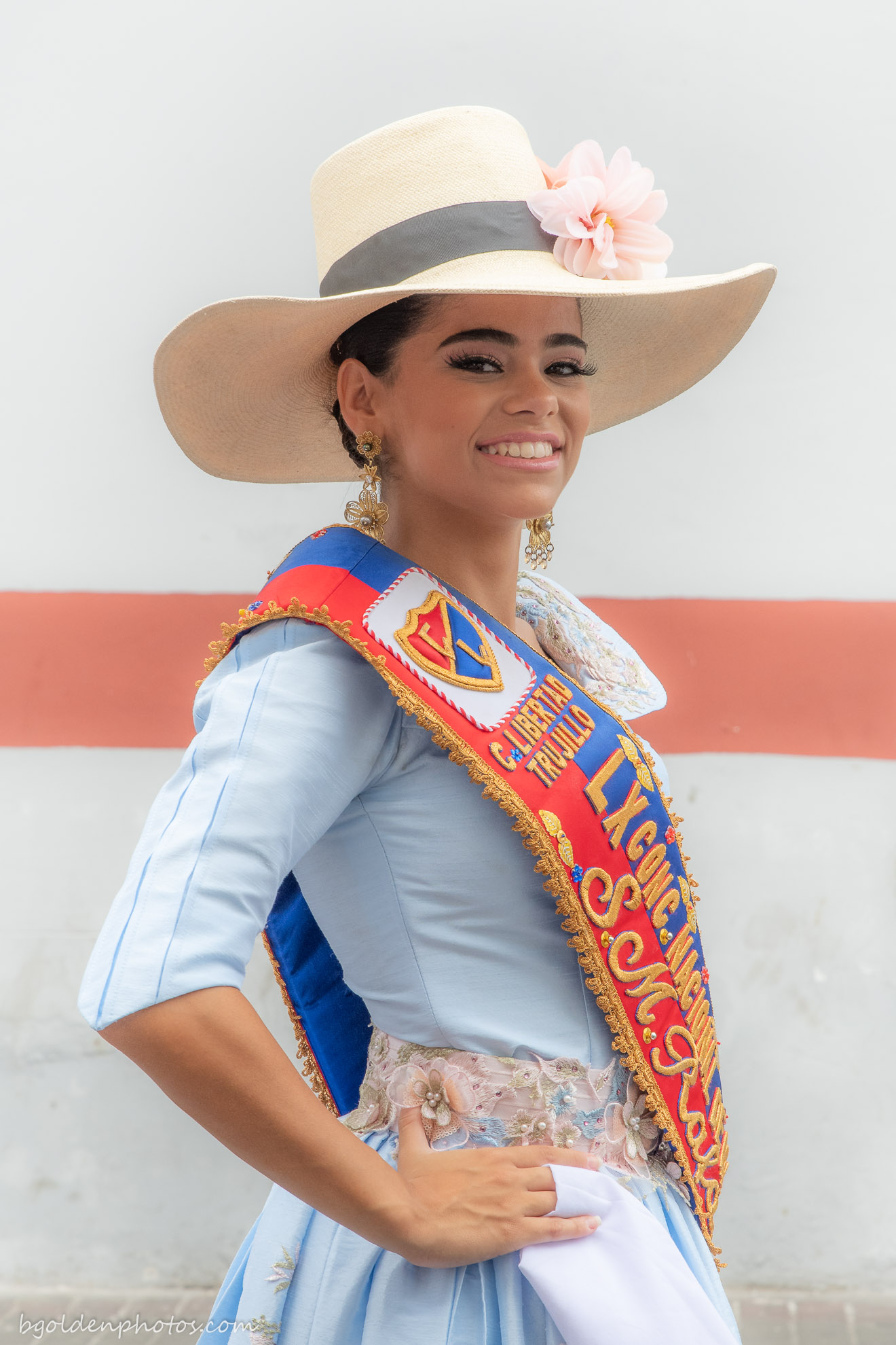 Rafaella Salmón Burmester - The Queen of the Marinera Festival in Trujillo Peru