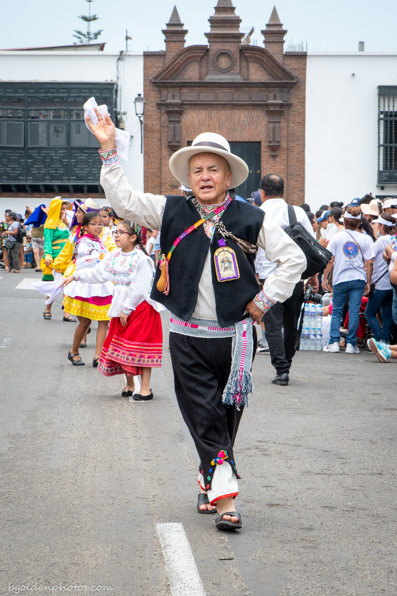 Participant in the Parade of the Festival of Marinera 2020 Trujillo Peru